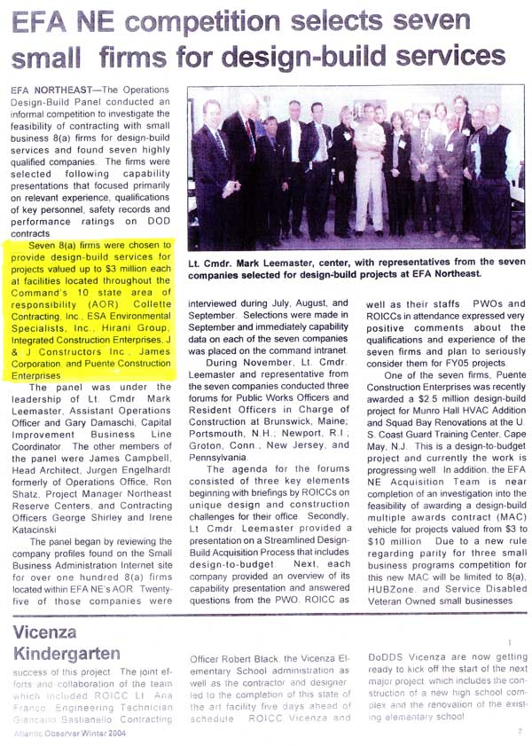Article published in NFA Northeast